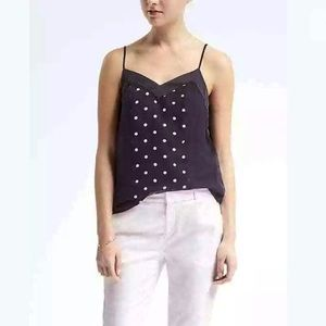 Banana Republic petites polkadot cami top 8P